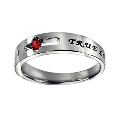 True Love Waits Birthstone Solitaire Ring - January - ST-SOL-TL-BS-JAN