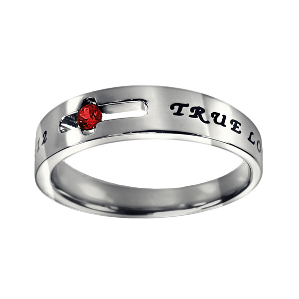 True Love Waits Birthstone Solitaire Ring - July - ST-SOL-TL-BS-JUL
