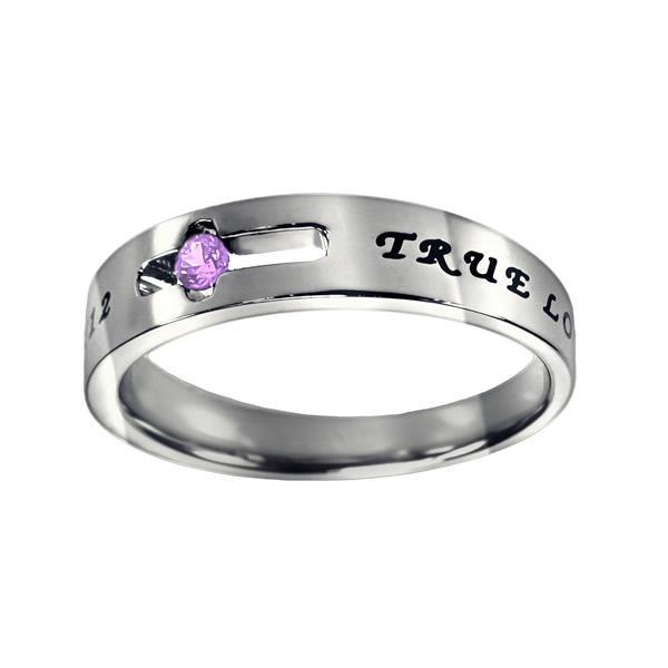 True Love Waits Birthstone Solitaire Ring - June - ST-SOL-TL-BS-JUN