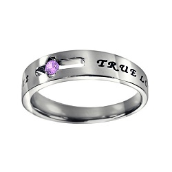 True Love Waits Birthstone Solitaire Ring - June