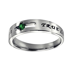 True Love Waits Birthstone Solitaire Ring - May