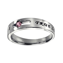True Love Waits Birthstone Solitaire Ring - October