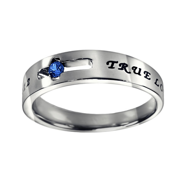 True Love Waits Birthstone Solitaire Ring - September - ST-SOL-TL-BS-SEP