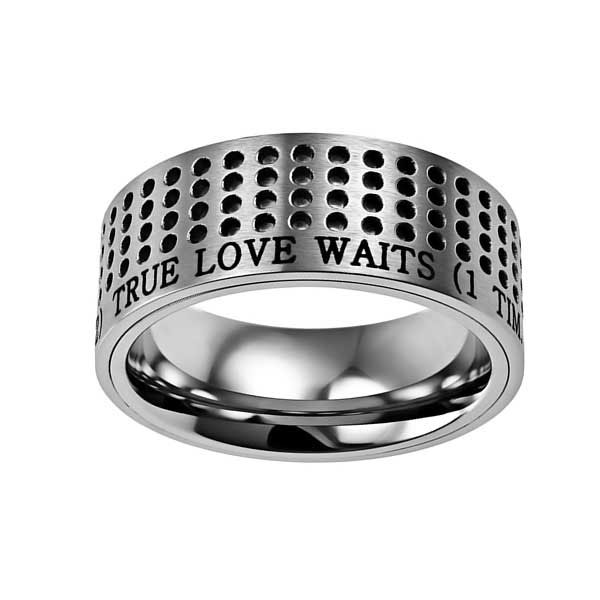 True Love Waits Silver Sport Ring - ST-ST-SIL-TLW