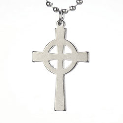 Celtic Cross Military Necklace