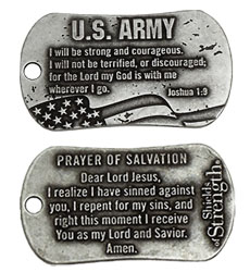 Army Inspirational Dog Tag
