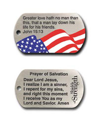 John 15:13 Flag Dog Tag