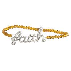 Smoked Topaz Faith Beaded Bracelet