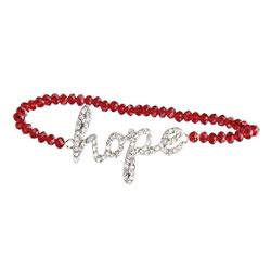 Red Hope Beaded Bracelet