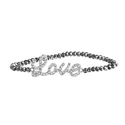Silver Love Beaded Bracelet