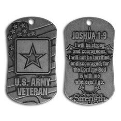 Army Veteran Dog Tag