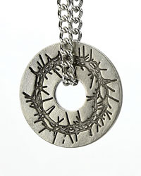 Crown of Thorns Oval Necklace