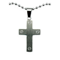 Box Cross Necklace