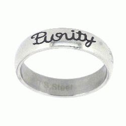 Purity Cursive Ring