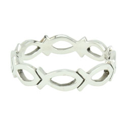 Cutout Ichthus Ring