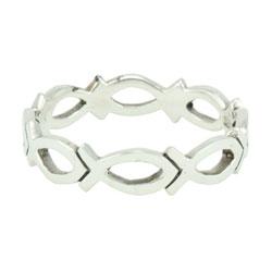 Cutout Ichthus Ring
