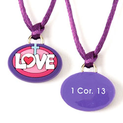 Love Cross Silicone Necklace