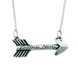 Follow Him Arrow Necklace arrow necklace, christian necklace, follow him necklace