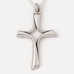 Open Twist Cross Necklace