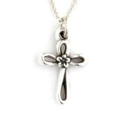Flower Open Cross Necklace