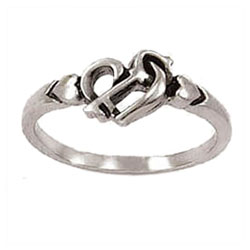 Key and Hearts Ring