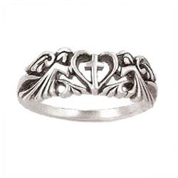 Angels Cross Heart Ring