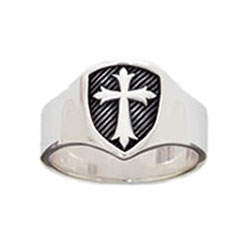 Signet Shield Cross Ring