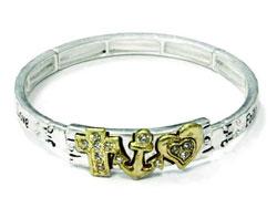 Cross Anchor Heart Bracelet