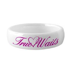 Ceramic Love Waits Ring