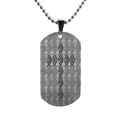 FHL Ichthus Cross Dog Tag