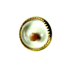 Gold Circle Mustard Seed Tie Tack