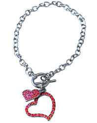 Red Double Heart Bracelet