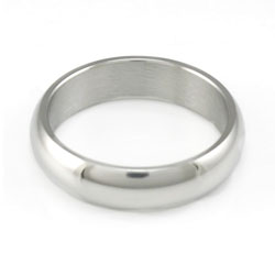 Domed Stainless Steel Narrow Ring - LDP-RNGF15