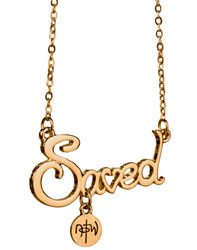 Saved Script Necklace - Gold