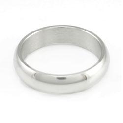 Domed Silver Narrow Ring - LDP-RNGF25