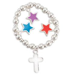 Stars Cross Bracelet