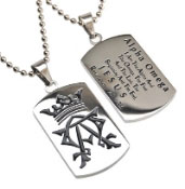 Alpha & Omega Dog Tag Necklace
