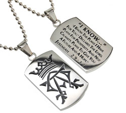 I Know Alpha & Omega Dog Tag Necklace