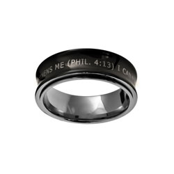 Black Phil 4:13 Spinner Ring