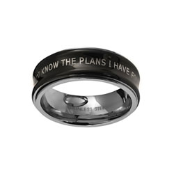 Black Jeremiah 29:11 Spinner Ring