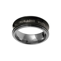 Black True Love Waits Spinner Ring