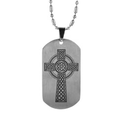 Celtic Cross Dog Tag