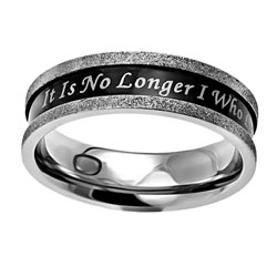 No Longer I Ebony Champagne Ring