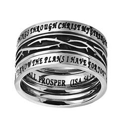 No Weapon Crown of Thorns Tiara Ring
