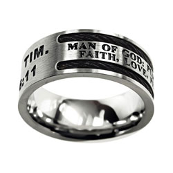 Man of God Cable Ring