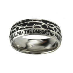 Alpha & Omega Crown of Thorns Ring
