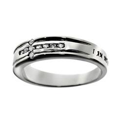 Beloved Diamond Cross Ring