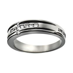 Love Diamond Cross Ring