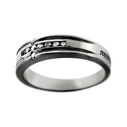 Serenity Diamond Cross Ring
