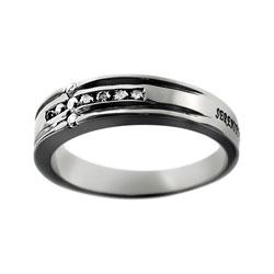 Serenity Diamond Cross Ring